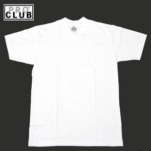PROCLUB プロクラブ プレーン Vネック Tシャツ 白 ホワイト 半袖 無地 LA USA V (サイズ:M) アメリカ LA ロサンゼルス ストリート PRO CLUB