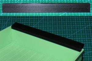 3DプリンタPLA+ 「リアスポイラー黒」1/10 WPL D12 スズキ キャリイ用