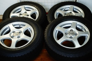 PROGET ROXCY 5.5JX14 イエローハットオリジナル ICEFRONTAGE 2018年製175/70R14 アルミ付4本セット 税込 送料格安 宮城県名取市