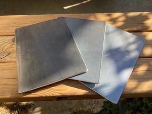 ソロBBQ ミニ鉄板 4.5×150×200  3枚セット