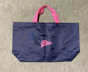 * beautiful goods [FILA filler ] non-woven shop sack (53.×28.) centre Magic cease., somewhat wrinkle . equipped. navy × pink