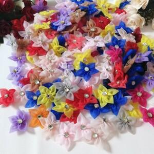 ハンドメイド ワッペン 綺麗なワッベン 手作り 花モチーフ 超大量 カラ1