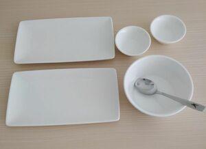 レア!ウクライナ航空 Kaelisお皿セット スプーン 機内食食器 小皿 バター皿 陶磁器 エアラインカトラリー Ukraine airline spoon tableware