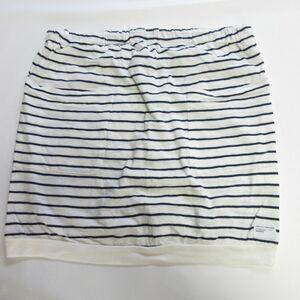 美品 UNDERCOVER アンダーカバー ボーダー柄 ミニ丈 スカート 白×黒 1 033