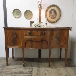 イギリス アンティーク 家具 サイドボード キャビネット 食器棚 飾り棚 収納 木製 マホガニー 英国 SIDEBOARD 6846b