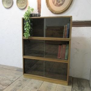 イギリス アンティーク 家具 ブックケース 3台組 本棚 飾り棚 収納 木製 マホガニー 英国 BOOKCASE 6839b
