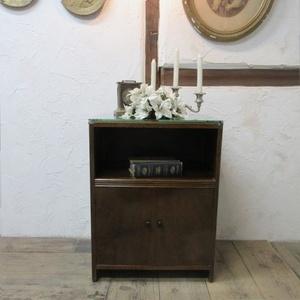 イギリス アンティーク 家具 サイドキャビネット ナイトスタンド ガラストップ 収納 飾り棚 木製 英国 SMALLFUNITURE 6859b