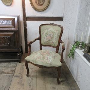 イギリス アンティーク 家具 サロンチェア アームチェア 椅子 イス 木製 英国 OTHERCHAIR 4998c