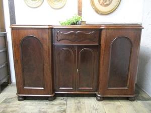 イギリス アンティーク 家具 セール サイドボード キャビネットシャビーシック 飾り棚 収納 木製 マホガニー 英国 SIDEBOARD 6266b