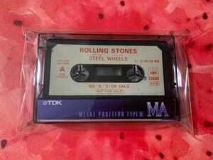 希少プロモーションカセット ザ・ローリング・ストーンズ The Rolling Stones スティール・ホイールズ Steel Wheels 非売品見本 送料無料