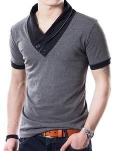 Tシャツ メンズ Lサイズ 半袖 おしゃれ アメカジ Vネック 無地 カットソー 大きいサイズ 春 夏 かっこいい ドライ ちょい悪 衣装
