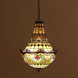 極上品◆別荘ステンドランプ ステンドグラス 吊り下げ照明 ペンダントライト ティファニー 装飾品◆工芸品◆ベッドルーム用 通路用ランプ