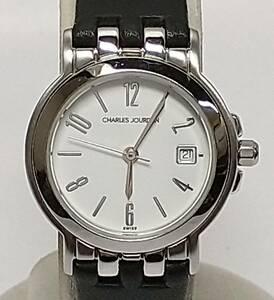 CHARLES JOURDAN 67.22 657 0235 腕時計 レディースウォッチ レザーベルト 店舗受取可