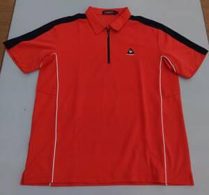 le coq sportif/ルコックスポルティフ 半袖ポロシャツ LLサイズ レッド