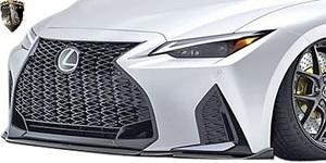【M's】レクサス 後期 30IS IS300 Fスポーツ (2020.11-) AIMGAIN SPORT フロントアンダースポイラー // カーボン エイムゲイン エアロ
