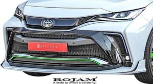 【M's】トヨタ 80系 ハリアー (2020.6-) ROJAM IRT GENIK フロントバンパースポイラー (LED Ver.) ロジャム FRP エアロ パーツ 22-fb-ha80