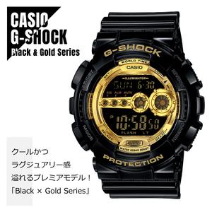 CASIO カシオ G-SHOCK Gショック Black × Gold Series ブラック×ゴールドシリーズ GD-100GB-1 20気圧防水 LEDオートライト機能★新品