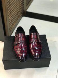 ワニ革 メンズシューズ ビジネスシューズ 靴 皮靴 紳士靴 24~27cm モカシン カジュアルシューズ レザー 大人気 幅広 男性 丈夫 プレゼント