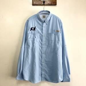 コロンビア PFG アウトドア フィッシングシャツ 長袖シャツ 刺繍シャツ トレッキング ワークシャツ メンズM Columbia USA アメリカ古着