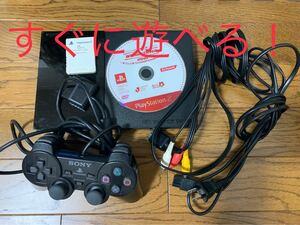 PS2 SCPH-90000 本体 セット コントローラー ソフト付き プレイステーション2