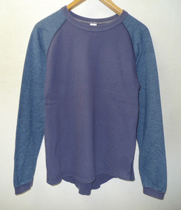 ◆ENTRY SG エントリーエスジー サーマル ラグラン切替 カットソー ロンT Tシャツ NAVY系 サイズM 日本製