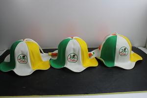 当時物 非売品 CBC どんぐり音楽会 帽子 3つセット グッズ CBCテレビ 音楽番組 昭和 レトロ 古道具 レア 中古 マニア テレビ番組 テレビ