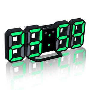 D led デジタル時計グローイモード輝度調整可能な電子置時計 24/12 時間表示アラーム時計壁掛け