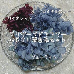 ハーバリウム花材 プリザーブドフラワーあじさい 3色
