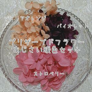 プリザーブドフラワー ハーバリウム花材 あじさい キャンドル レジン