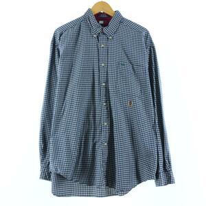 90年代 トミーヒルフィガー TOMMY HILFIGER 長袖 ボタンダウンチェックシャツ メンズXL ヴィンテージ /eaa149513