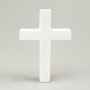 ホワイト クロス アンテナボール アンテナトッパー 車 目印 飾り カスタム USA 十字架 キリスト アメ車 グッズ 定形外