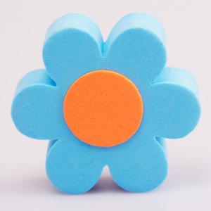 ブルー デイジー アンテナボール アンテナトッパー 車 目印 飾り カスタム USA 花 フラワー かわいい アメ車 グッズ 定形外