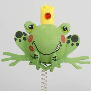 プリンス フロッグ アンテナボール アンテナトッパー 車 目印 カスタム かわいい カエル 蛙 動物 アニマル 王子 アメ雑 定形外