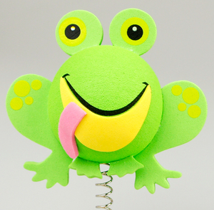 グリーン フロッグ アンテナボール アンテナトッパー 車 目印 カスタム かわいい カエル 蛙 動物 アニマル 緑 アメ雑 定形外