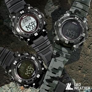 ソーラー充電ができる腕時計 メンズ ミリタリー・デジタルウォッチ 【ブラック(反転液晶)】