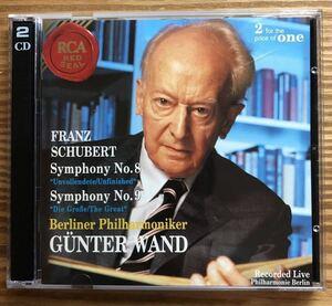 (2枚組)シューベルト/交響曲第8番「未完成」、交響曲第9番「ザ・グレイト」ギュンター・ヴァント指揮/ベルリン・フィルハーモニー管弦楽団