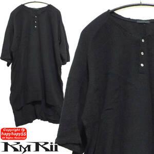 ■KMRii ダブルガーゼ ビッグシルエット ロングシャツ◆Tシャツ オーバーサイズ Yohji Yamamoto ヨウジヤマモト Ground Y グランドワイ Y-3