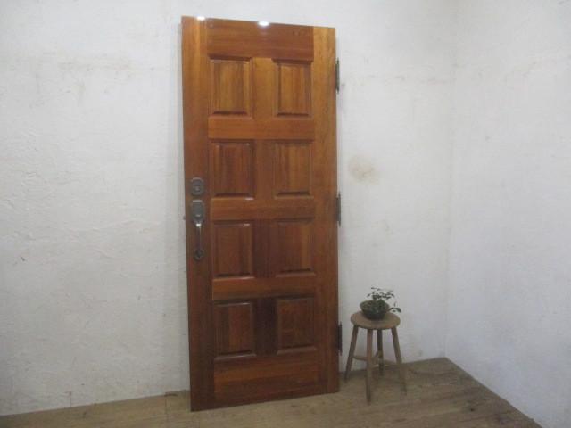 タ荷P342◆(7)【H200cm×W81,5cm】◆特大サイズの重厚な古い木製ドア◆建具門扉洋館内装建材レトロM(ヤE)下