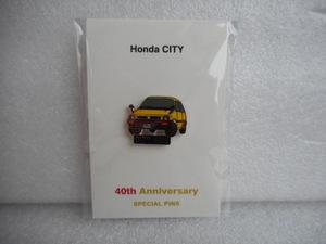 ホンダ ピンズコレクション シティ 40周年記念ピンズ イエロー