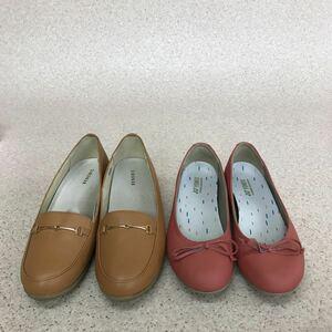 D1638 まとめ売り(22.5cm お得な2点セット)レディース パンプス BENEBIS ベネビス YONEX ヨネックス 婦人靴 スリッポン