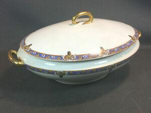 アンティーク スープ蓋付き深皿リモージュ磁器フランスヴィンテージ フランス アンティーク 皿