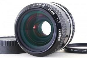 美品 Nikon ニコン Nikkor Ai-s ais 35mm F2 単焦点レンズ MF 一眼レフカメラ レンズ