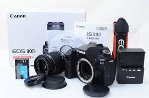 【美品】Canon キャノン EOS 80D レンズキット y119