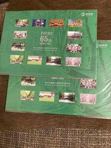 【ラグビーワールドカップ2019】府中市制施工65周年記念乗車券 2枚セット