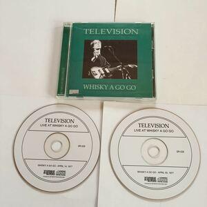 レア盤 2枚組 TELEVISION WHISKY A GO GO LOS ANGELES テレヴィジョン TOM VERLAINE トム・ヴァ-レイン コレクターズCD NEW YORK PUNK