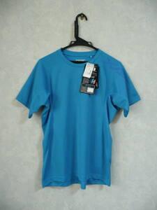 XG 新品メンズスポーツ半袖Tシャツ(ゼビオ限定) S寸 身長162-168/胸回85-91cm ブルー 瞬速乾燥/吸汗速乾/消臭 トレーニング 運動 スポーツ