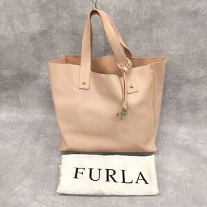 FURLA フルラ ハンドバッグ トートバッグ レディース レザーバッグ チャーム 保存袋付き ピンク