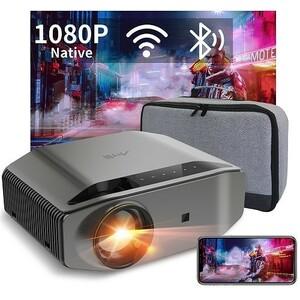 プロジェクター Bluetooth搭載 小型 8000lm 300インチ HDMI iPhone Android ゲーム USB 4K対応 映画 映像 在宅