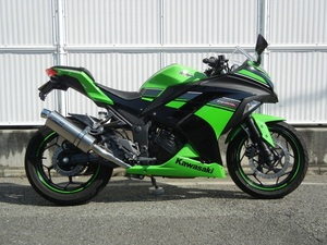 新品 WR'S Ninja250/ABS 2013 (JBK-EX250L) スリップオン ステンレス/オーバル OV4250JM ニンジャ ダブルアールズ マフラー