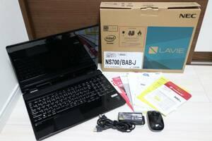早い者勝ち 新品SSD500GB変換済♪ ★美品★ NEC LaVie NS700/B PC-NS700BAB Core i7 5500U 8GB SSD 500GB Windows10♪